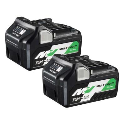 Pack Hikoki 373788 2 Baterías BSL36A18 Li-ion Multivolt 36V 2.5Ah - 18V 5.0Ah