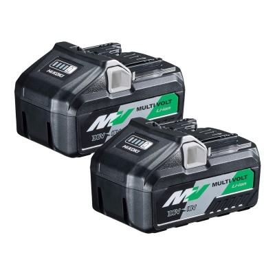 Pack Hikoki 375575 2 Baterías BSL36B18 Li-ion Multivolt 36V 4.0Ah - 18V 8.0Ah