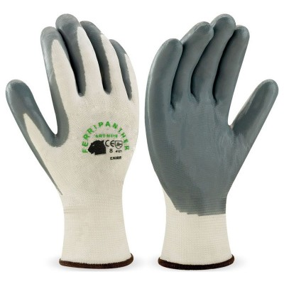Guante nitrilo gris microespuma nylon pack 12 pares