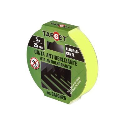 Cinta adhesiva antideslizante fluorescente 5m x 25mm