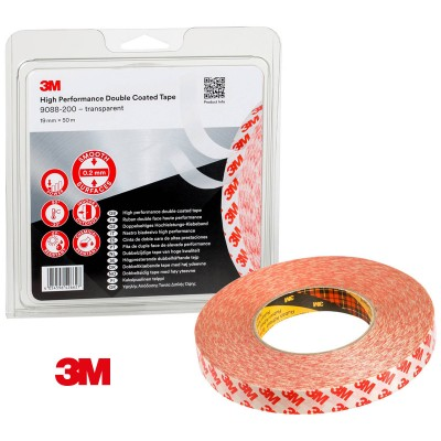 Cinta doble cara fina 3M transparente 19mm x 50m