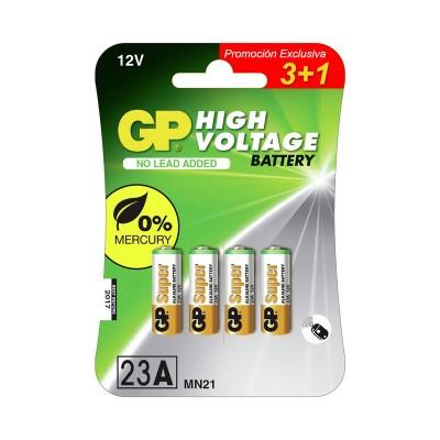 Pila alcalina alto voltaje 23A GP Batteries 3+1 Uds.