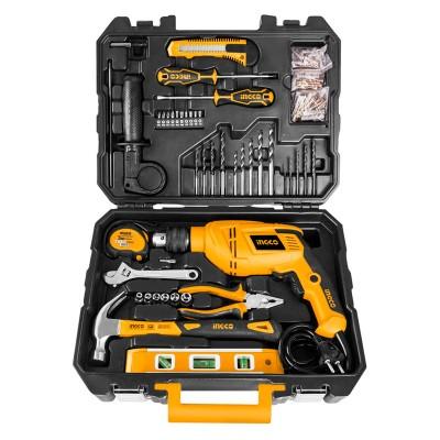 Ingco 0050 Maleta de herramientas 101pzs + taladro 650W